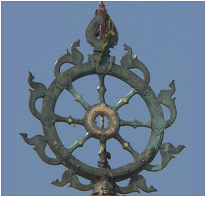 The Metal Wheel At The Top Of Lord Jagannath Temple Is Known As Neela Chakra Blue Wheel The Wheel Is Made Of Eight Metals Comprising Of Iron Copper